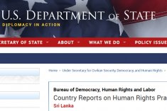 Sri Lanka: The most significant human rights issues included unlawful killings- US report