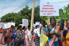 Tamils protest against military land grabs in Puthukkudiyiruppu