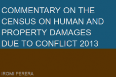 The 'Census on human and property damages due to conflict – 2013' will not reveal the true extent of death, disappearance and damage caused by the war – CPA
