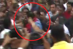 Former President Rajapaksa's Scuffle at a Rally Goes Viral