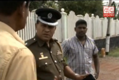 Police officer blocks vehicle parade over Rathupaswala