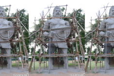 Army builds mythical Sinhala statue in Tamil village