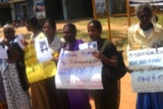 Protest in Kilinochchi to find disappeared persons