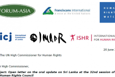 Int. HR NGOs to Zeid: UN Backed Sri Lanka Process In Danger of Loosing Confidence