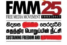 FMM comes out of slumber on behalf of unethical reporting in Sri Lanka