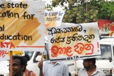 Sri Lankan government shuts universities to break strike