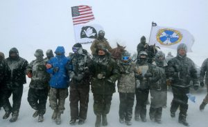 US veterans return to Standing Rock to form human shield to protect Dakota Access pipeline protesters
