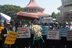 Widespread protests bring judicial system to standstill