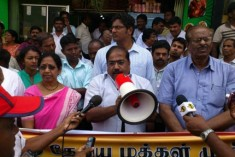 Jaffna demonstration backing students demands IC action, appeals to Tamil youth outside