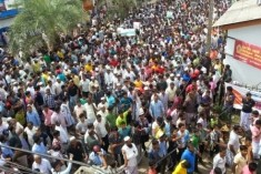 A massive protest campaign at Kathankudy against Aluthgama attack