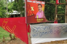 UPFA politician led gang fires at JVP election campaigners
