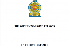 Sri Lanka: Interim report of the Missing Persons Office in full