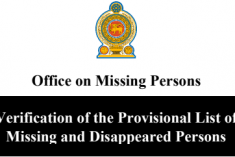 Sri Lanka: The OMP calls on families of the missing persons to provide info to make a comprehensive list of missing and disappeared persons.
