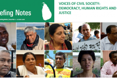 Report : Voices of Civil Society: Democracy, Human Rights & Justice in Sri Lanka