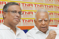 Sampanthan stands by Sumanthiran & appeals for unity among the Tamils to achieve a political solution.