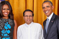 Obama Praises President Sirisena's Commitment for Democracy and Good Governance
