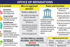 Sri Lanka: Office for Reparations Bill narrowly passed