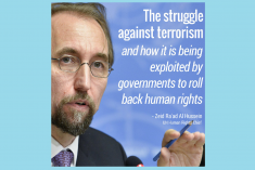 How the struggle against Terrorism is used to role back human rights – Zeid